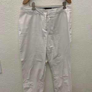 Talbots white ankle length pants